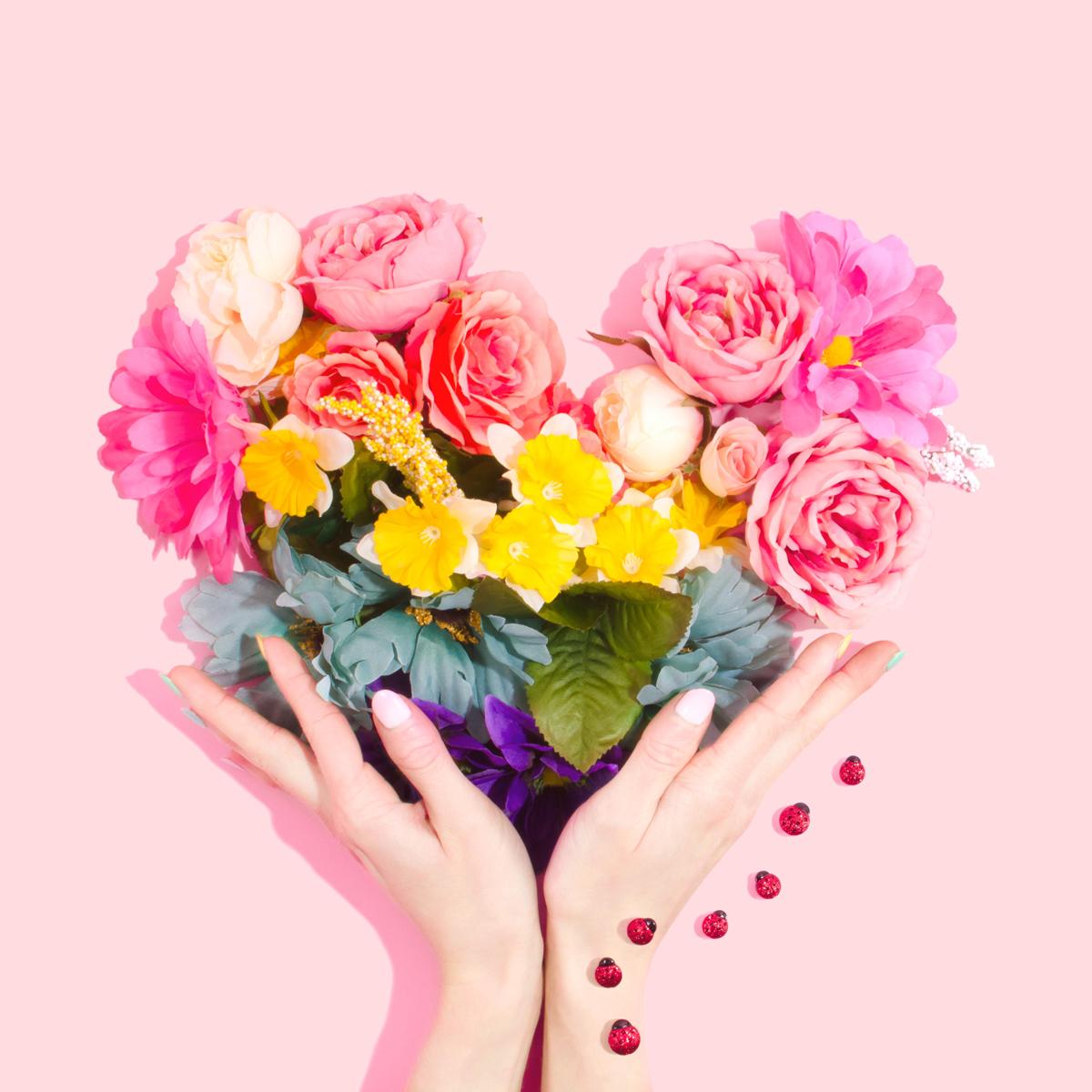 Fotos de flores creando una forma