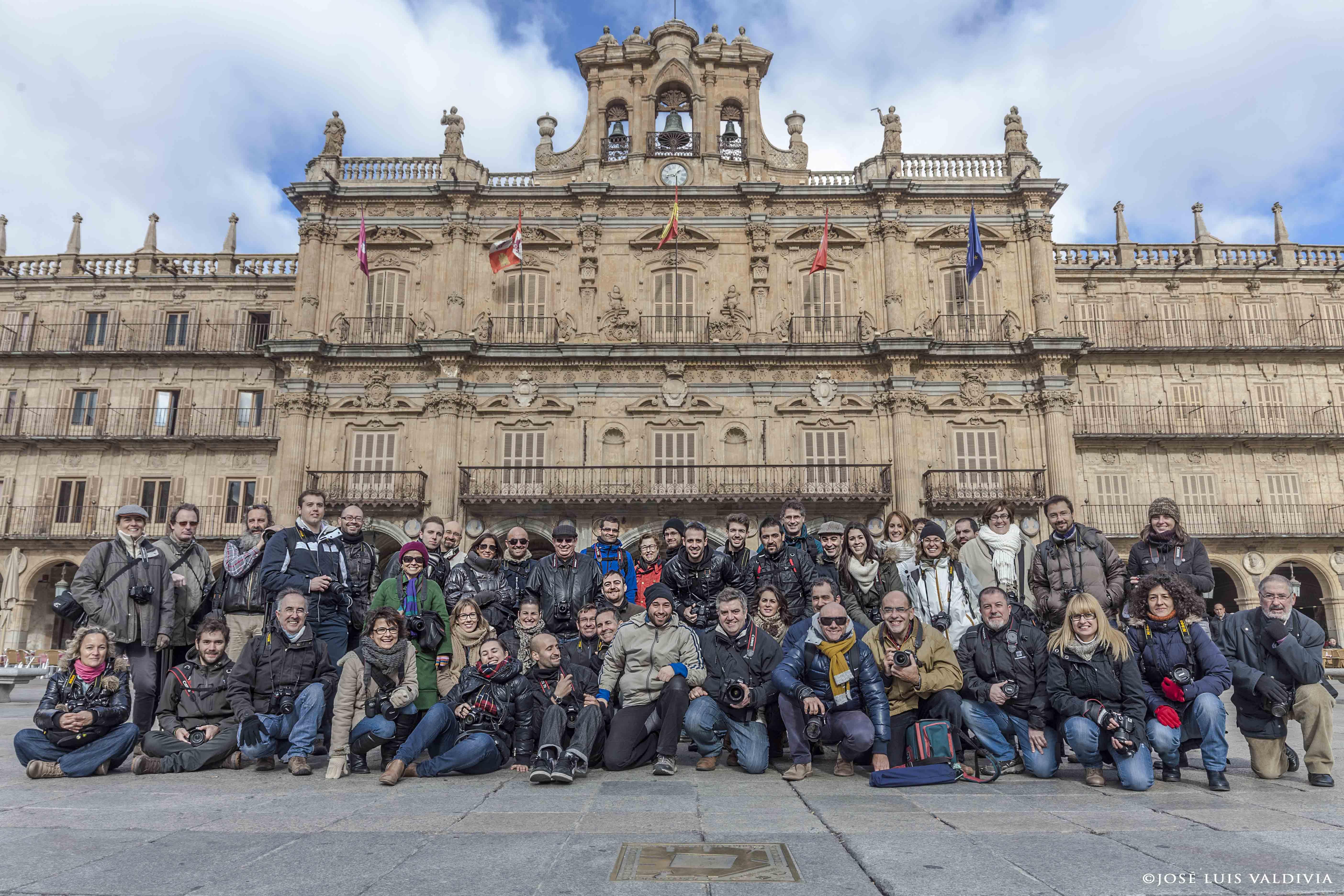 Foto de familia La Mirada y el Fotógrafo: Iniciación a la fotografía digital (Salamanca, 2013). ©JoseLuisValdivia