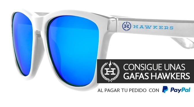 Consigue unas gafas de sol Hawkers gratis al pagar tu pedido con PayPal