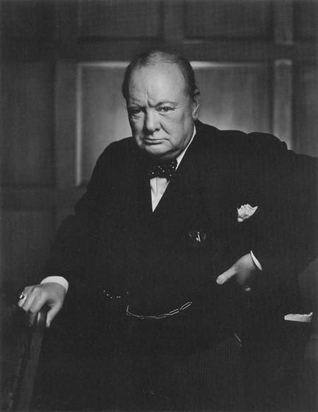Winston Churchill: Ejemplo de fotografía de retratos