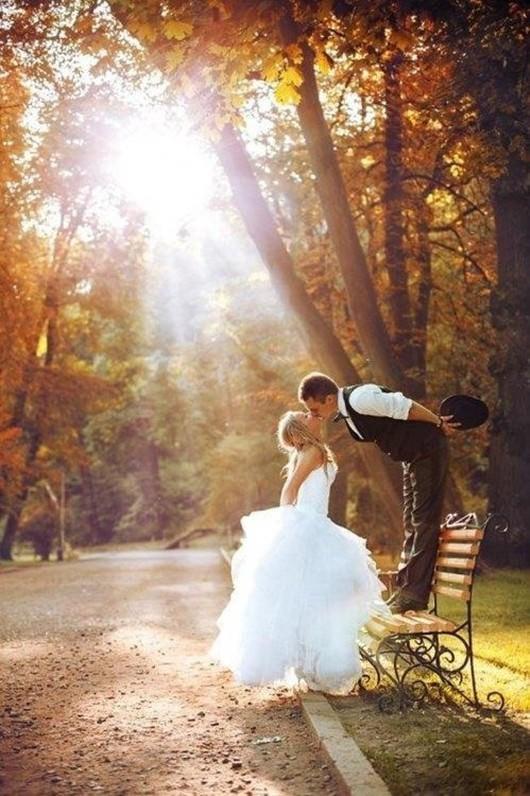 ambientacin otoal en el da ms importante de sus vidas ideas para hacer fotos de bodas originales