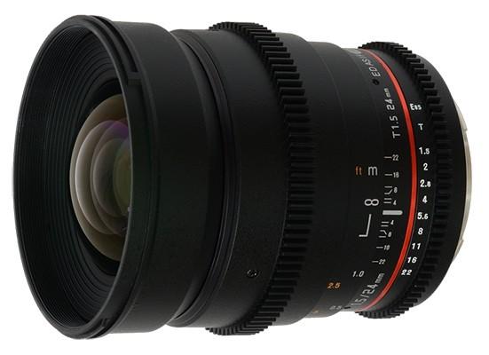 Accesorios para grabar vídeos con DSLR: objetivo Samyang 14mm