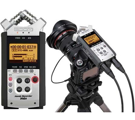 Accesorios para grabar vídeos con DSLR: grabadora de audio Zoom H4N