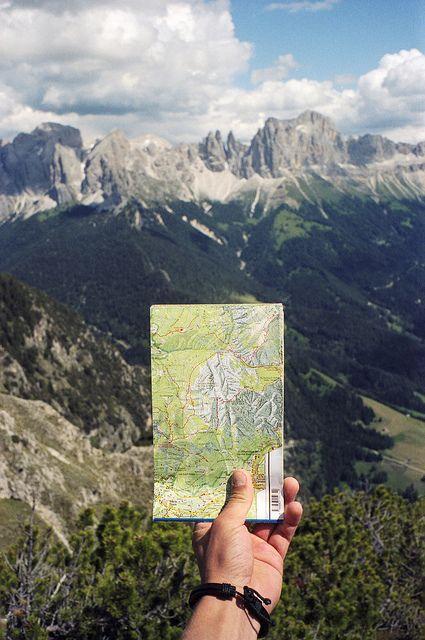 Photos de voyage : endroit vs. carte