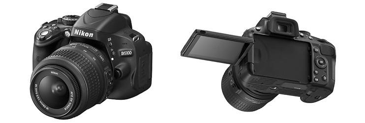 cámara réflex con pantalla abatible