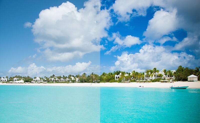 Mejora tus fotos de verano con un filtro polarizador