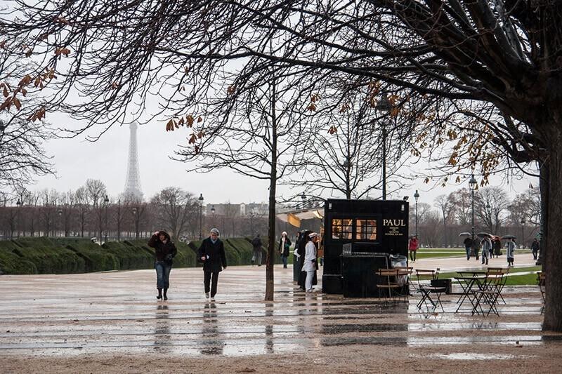 Puesto de crêpes en París