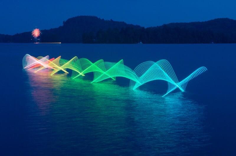 40 impresionantes ejemplos de fotografía Light Painting