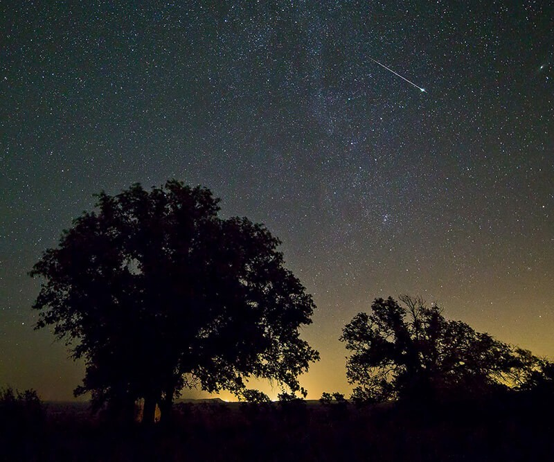 Shooting star across Texas Hill Country, de Ralph Arvesen