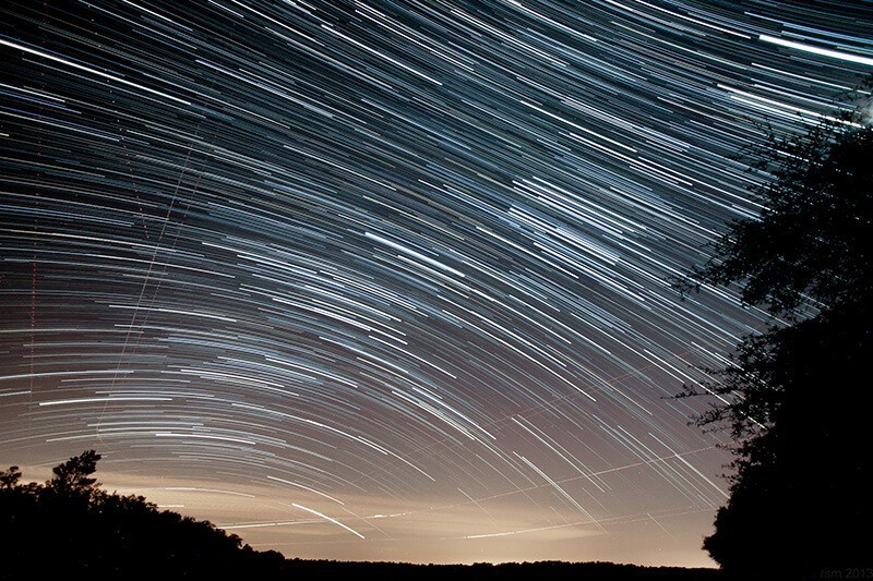 Star trails at Hopkins Prairie, Ocala National Forest, de Ryan McKee