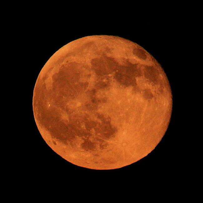 Luna roja por eclipse total, por Steve Jurvetson
