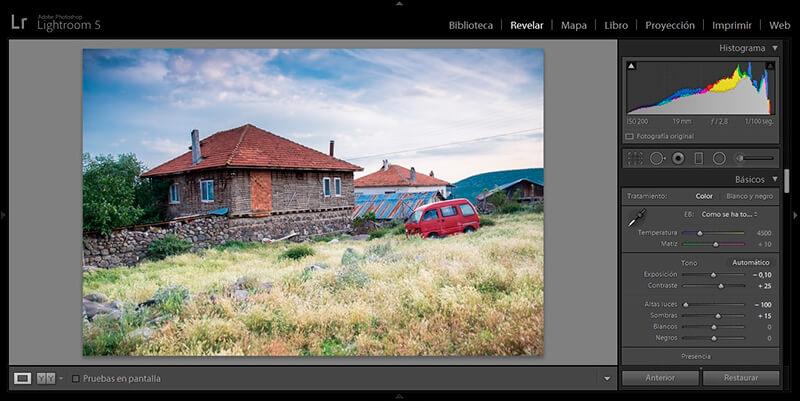 Posibilidades del procesado de una foto en formato RAW