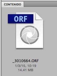 Vista previa de una imagen de una cámara no reconocida por el software