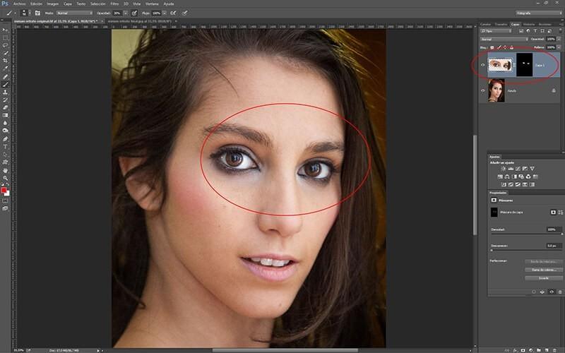 Retocar retratos con Photoshop: re-iluminación de la mirada