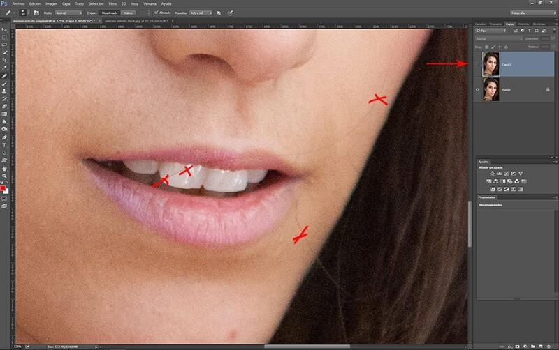 Retocar retratos con Photoshop: eliminación del cabello salvaje