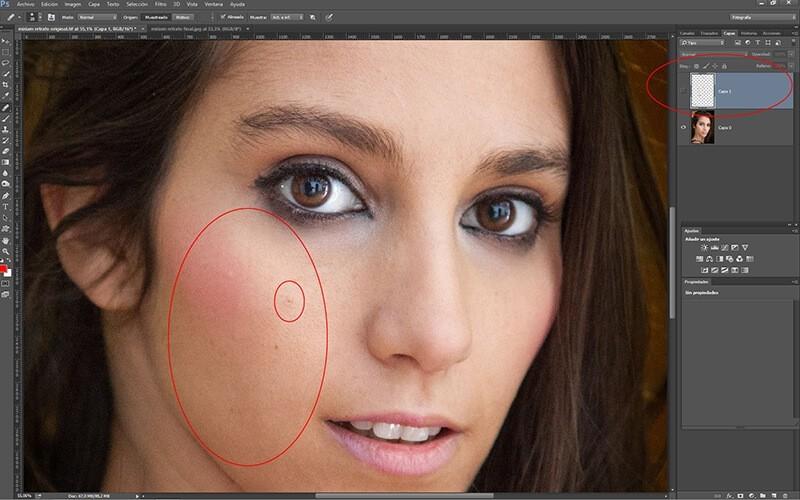 Retocar retratos con Photoshop: eliminación de granos y manchas en la piel