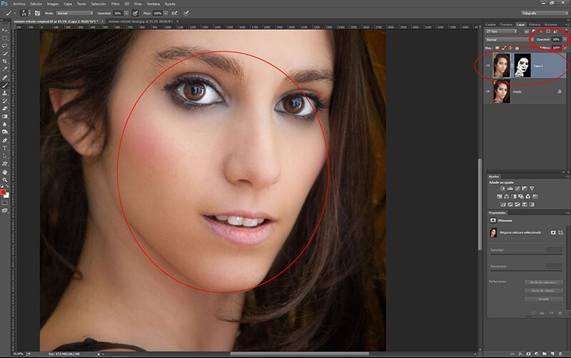 Retocar retratos con Photoshop: suavizado general de la piel