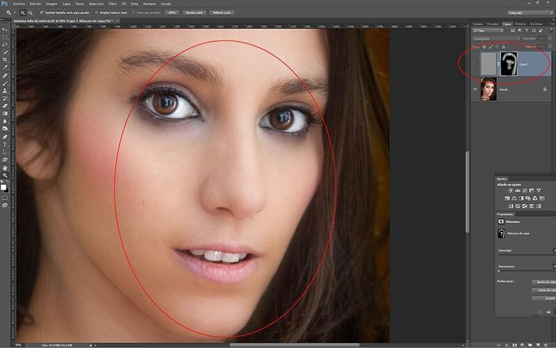 Retocar retratos con Photoshop: enfoque selectivo de la mirada, la nariz y la boca
