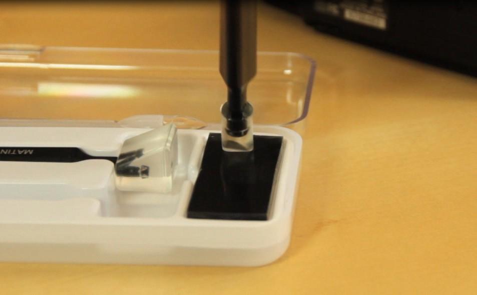 Limpiar el sensor: método en seco