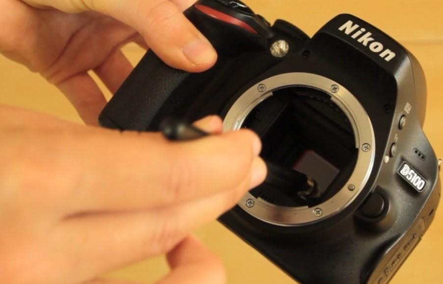 Limpiar el sensor: pinceles