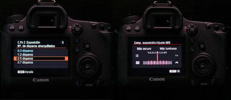 Configuración del horquillado Canon