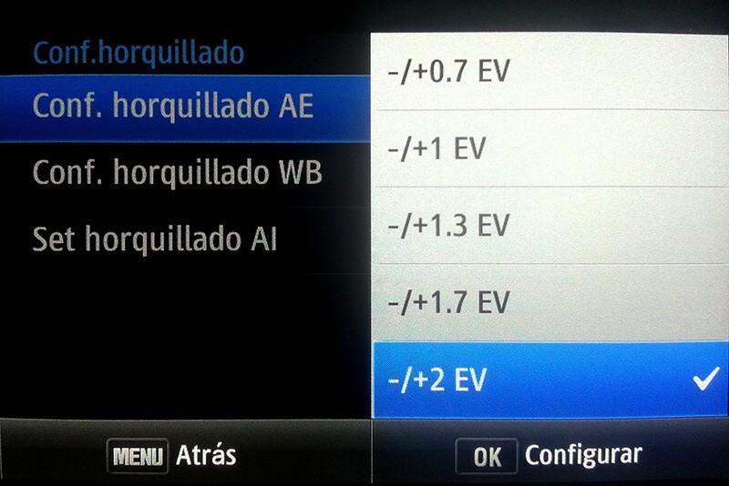 Configuración del horquillado Samsung