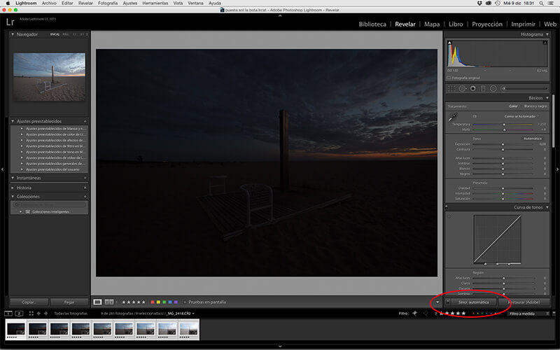 Sincronizamos automáticos para que se apliquen los cambios a todas las fotos