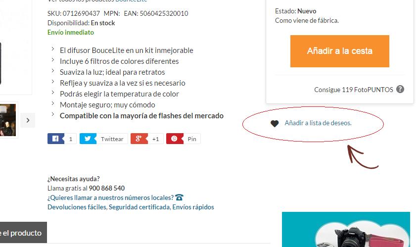 Añadir a lista de deseos boton web blog