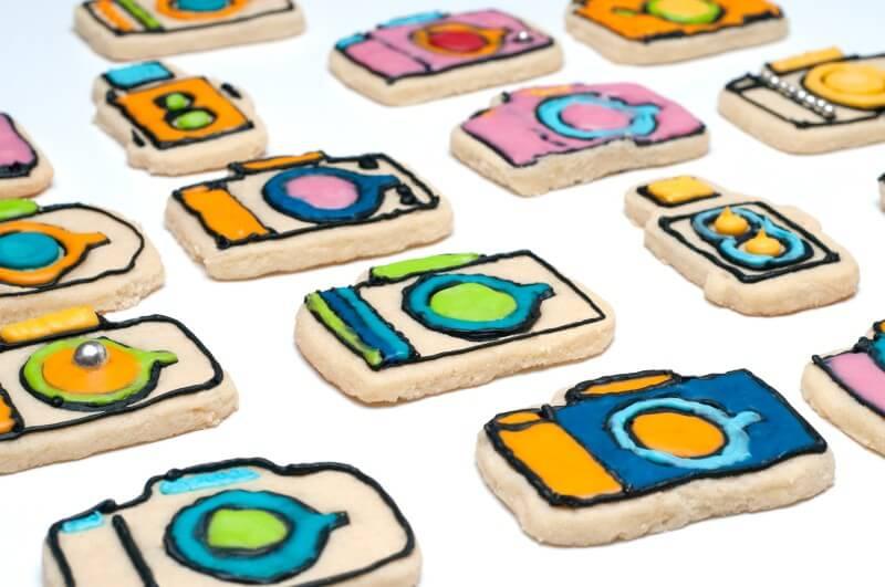 Gâteaux en forme d'appareils photo