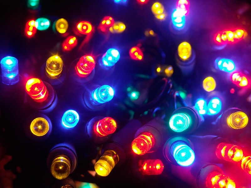 Las luces LED de Navidad - Risforndm