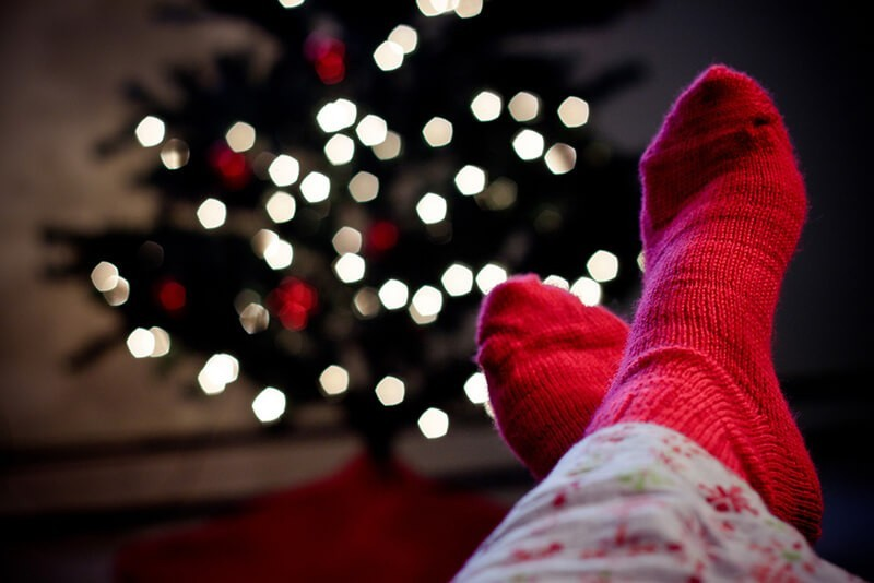 "40 photos originales et créatives de Noël pour vous inspirer - ""Red Wool Socks"", Sharon Drummond"