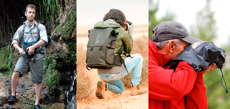 Accesorios impermeables para fotografiar en la naturaleza