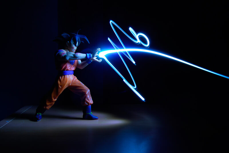 14 ideas originales para hacer fotos en casa: lightpainting