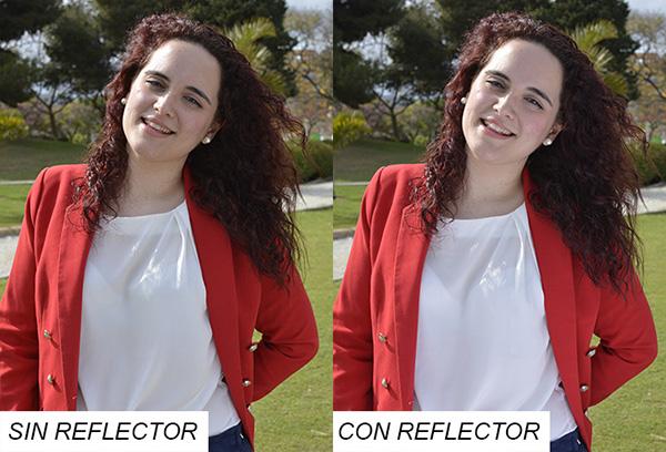 reflector para fotos con mucho sol