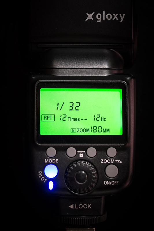 Modo estroboscópico del flash Gloxy GX-F990