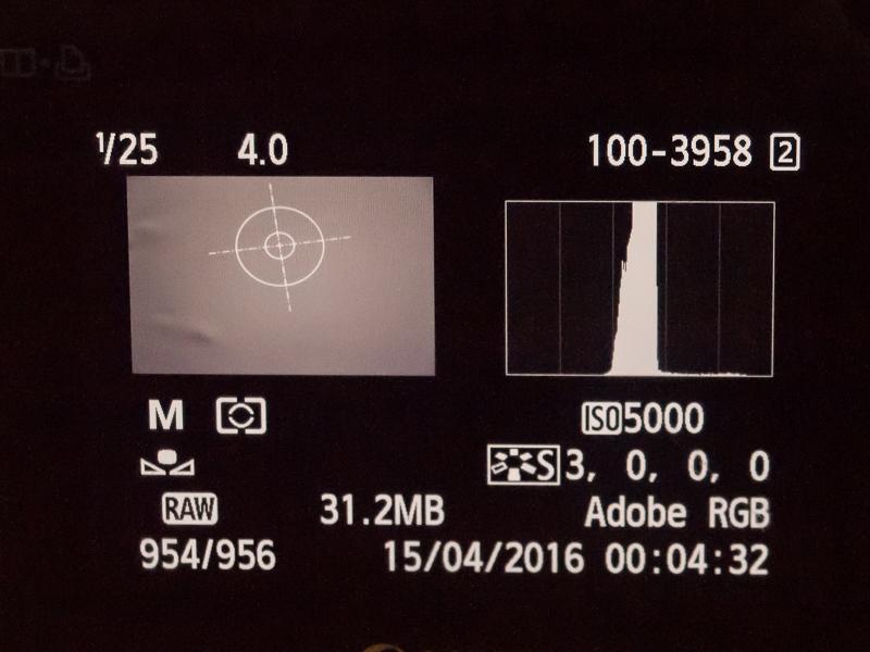 Fotografia de la carta gris con una exposición de +2/3 EV
