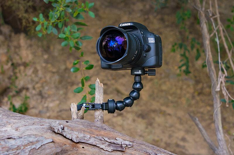 Utilisez des clampods et des pinces pour vos appareils photo