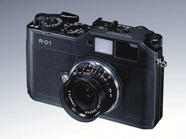 Una de las primeras cámaras sin espejo, la Ricoh R-D1