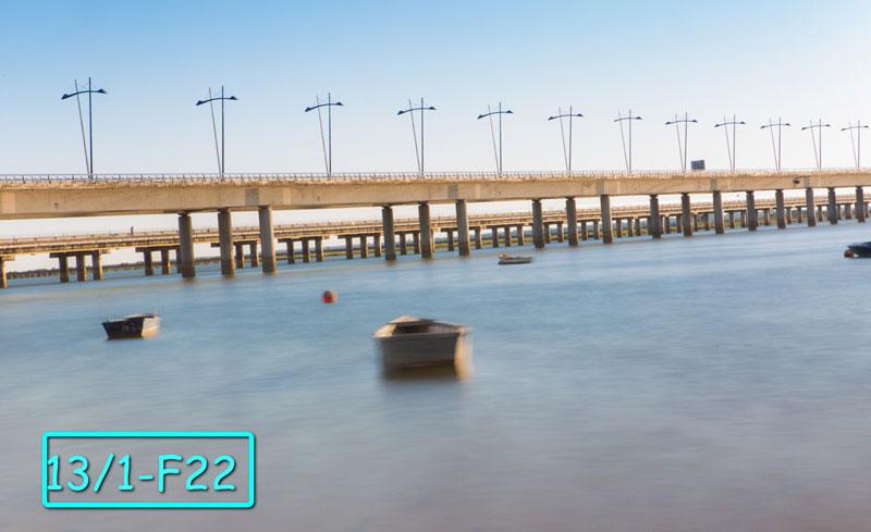 Photo prise à l'aide du filtre variable à ND200