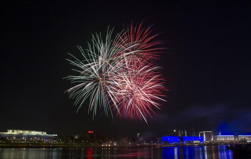 Fotografiar fuegos artificiales