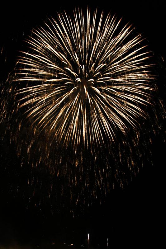 Photographier les feux d'artifice : l'exposition