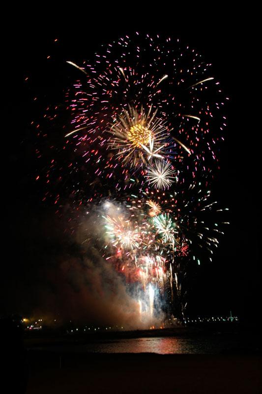 Photographier les feux d'artifice : montage final