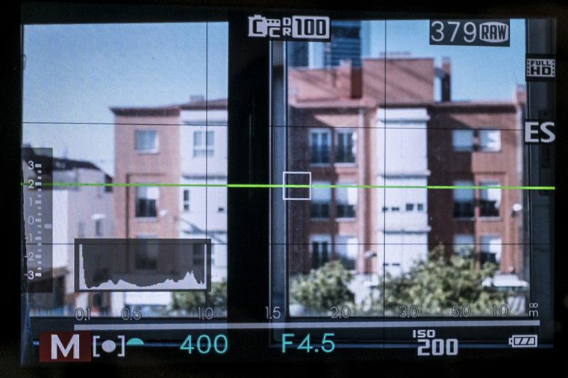 Visor de la cámara Fuji X-T1