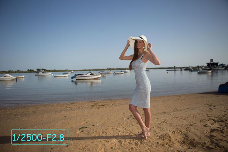Photo prise avec le filtre variable Gloxy et un flash