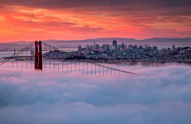 Foto del Golden Gate puesta de sol