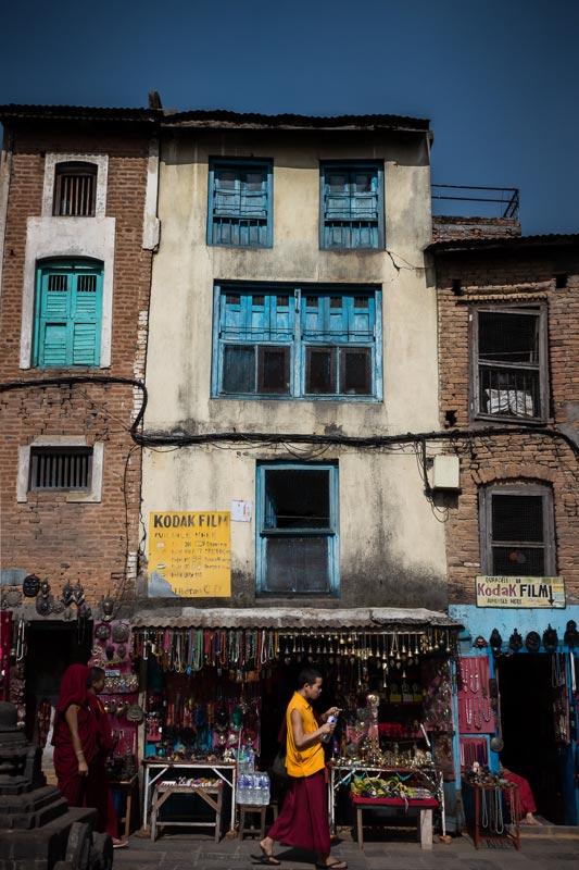 Moine - Site religieux Swayambunath (Népal) - © Dani Vottero