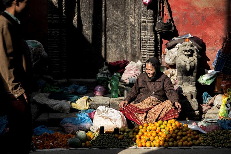 Le marché à Katmandou (Népal)