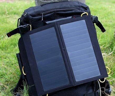 Paneles solares para viaje fotográfico