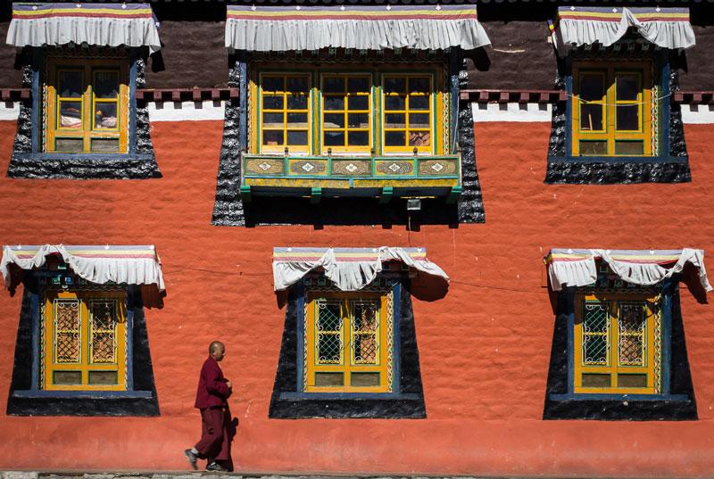 Moine - monastère de Thame (Népal)© Dani Vottero