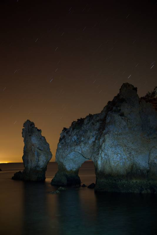 photo d'étoiles à la plage